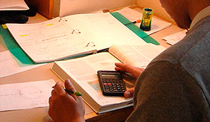 photo - closeup of a student taking a test